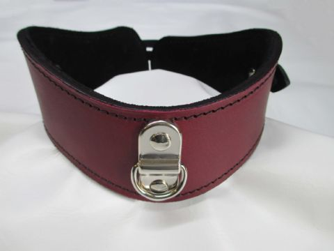 Optional Colour Leather/Suede Lined locking Posture Collar